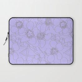 Australian Waxflower Line Floral in Lilac Laptop Sleeve