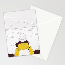 All the pleasures of traveling alone - November Stationery Cards