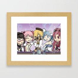 Madoka Magica Selfie Framed Art Print