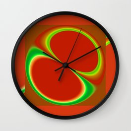 Red Eight Wall Clock