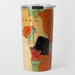 Map Of Africa 1908 Travel Mug
