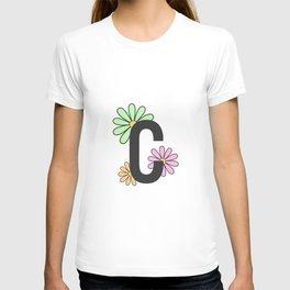 Floral Letter C T-shirt