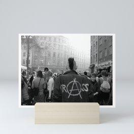 Berlin Punk wearing Crass jacket Mini Art Print
