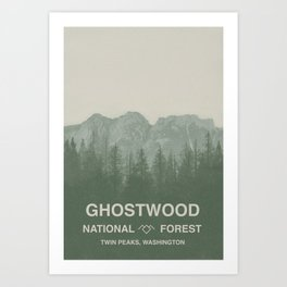 Ghostwood National Forest Twin Peaks Art Print