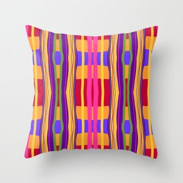 Hot Pink Crossover Line Design Throw Pillow