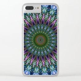 Colorful mandala Clear iPhone Case