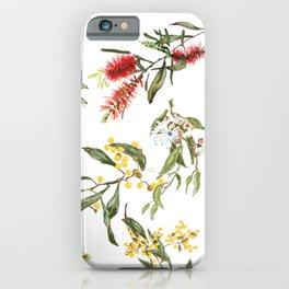 Australian spring flowers iPhone Case