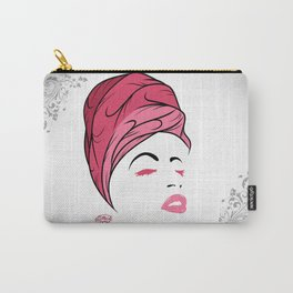 Lady Wrap (pink) Carry-All Pouch