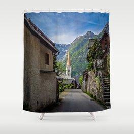 Streets of Hallstatt Shower Curtain