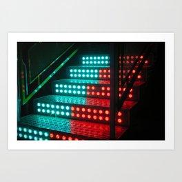 Neon Bulbs Art Print