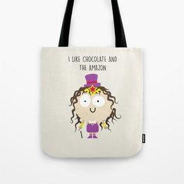 Amazon Chocolate Tote Bag