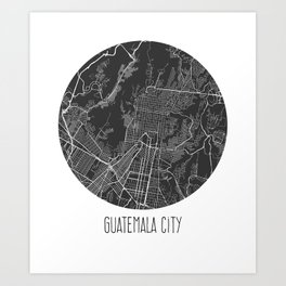 Guatemala City Art Print