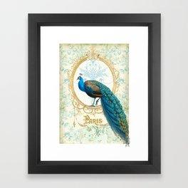 Paris Peacock Framed Art Print