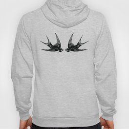 Double Swallow Illustration Hoody