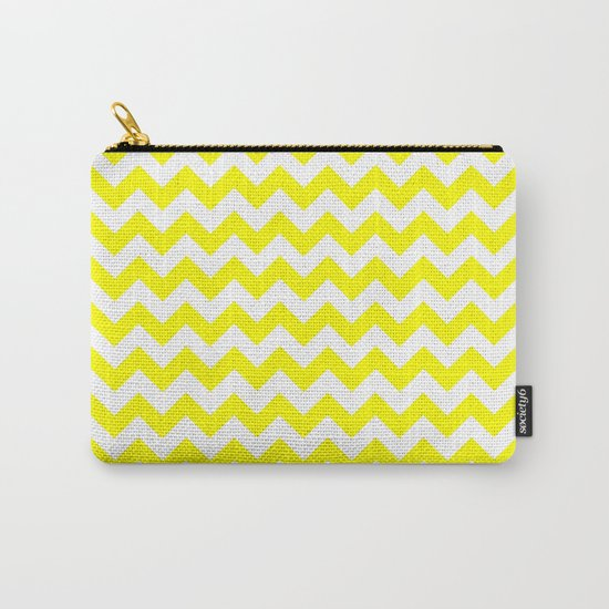 Chevron (Yellow/White) Carry-All Pouch