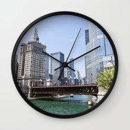 Chicago River Cityscape Wall Clock