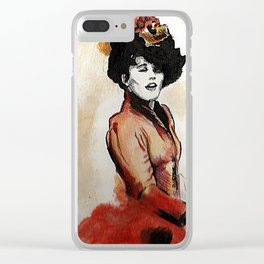 Irene Adler in Watercolor Clear iPhone Case