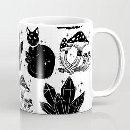 magic cat pattern, witch cat pattern, halloween cat pattern Coffee Mug