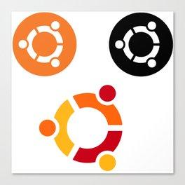 ubuntu operating system stickers linux Canvas Print
