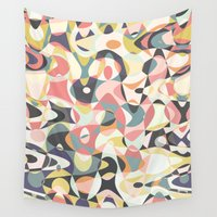 deco Wall Tapestries featuring Deco Tumble by Beth Thompson