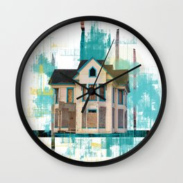 Something Old, Something New collage Wall Clock