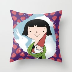 Help People not Gnomes Throw Pillow