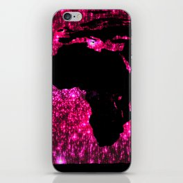 Pink Sparkle World Map iPhone Skin