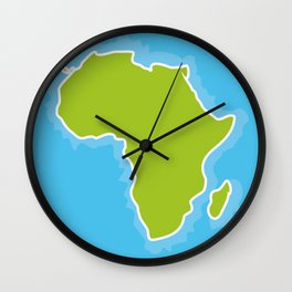 map of Africa Continent and blue Ocean. Vector illustration Wall Clock