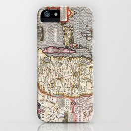 Map of China - Mercator - 1606 iPhone Case