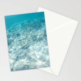 Under the aqua sea Stationery Cards