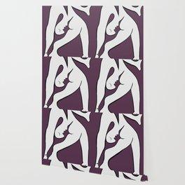 Picasso - Purple and White Wallpaper