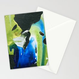 Abstraction - Green and green - by LiliFlore Stationery Cards