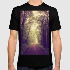 The Sound of Fog Coming Down MEDIUM Black Mens Fitted Tee