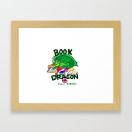 Book Dragon Framed Art Print