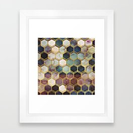 RUGGED MARBLE Framed Art Print