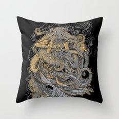 Octolady Throw Pillow
