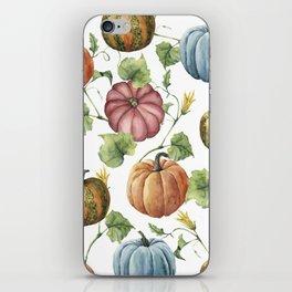 PUMPKINS WATERCOLOR iPhone Skin