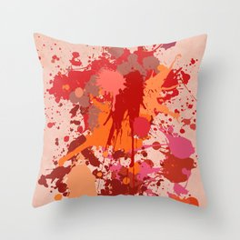 Painting Color splashes Throw Pillow