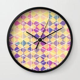 Purple indulgence pattern art Wall Clock
