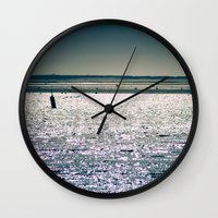 cape cod Wall Clocks featuring Chatham Cape Cod Massachusetts by ELIZABETH THOMAS Photography of Cape Cod