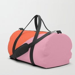 Bright Orange & Pink - oblique Duffle Bag