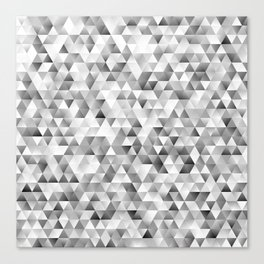 Grey triangle pattern Canvas Print