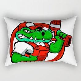 Cartoon angry crocodile Rectangular Pillow