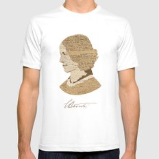 Charlotte Bronte  White MEDIUM Mens Fitted Tee
