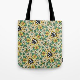 Yellow Violas with Checkers Tote Bag