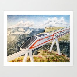 Cairo To Cape Town Train Art Print