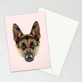 German Shepherd // Pastel Pink Stationery Cards