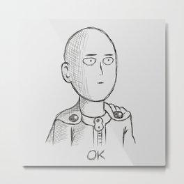 Saitama ok Metal Print