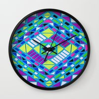 native Wall Clocks featuring Native by Erin Jordan