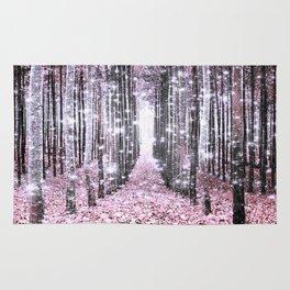 Magical Forest Pink Gray Elegance Rug